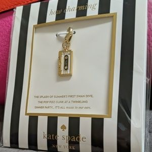 "Kate Spade ""How Charming"" Cassette Tape Charm"